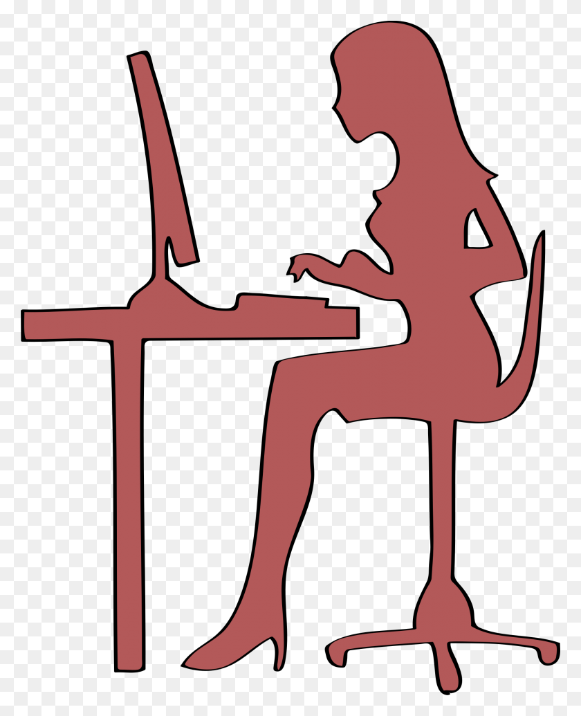People Clipart Desk - Teacher Desk Clipart