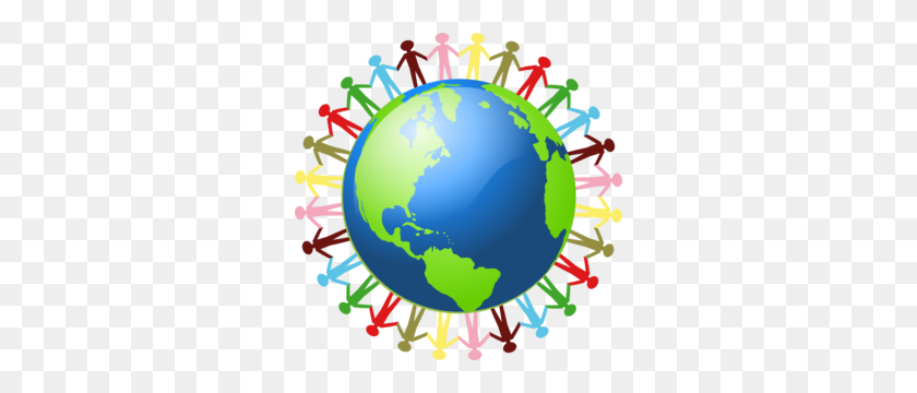 People Holding Hands Around The World Clip Art - Hand In Hand Clipart