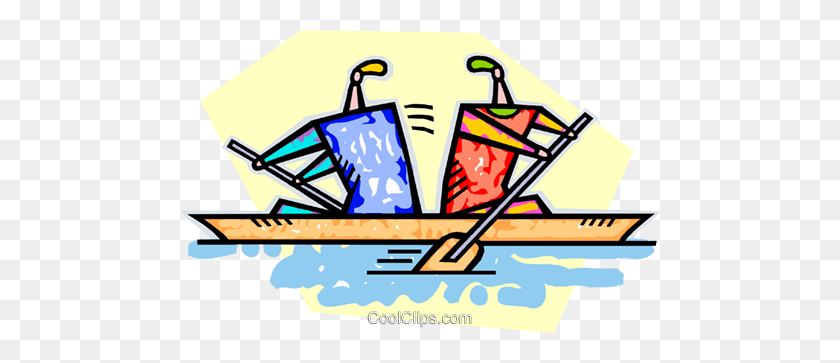 People Rowing In Opposite Directions Royalty Free Vector Clip Art - Directions Clipart