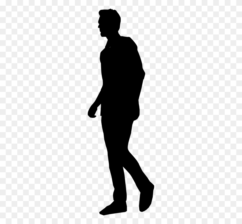 People Silhouette Clipart Tall Man - People Standing PNG