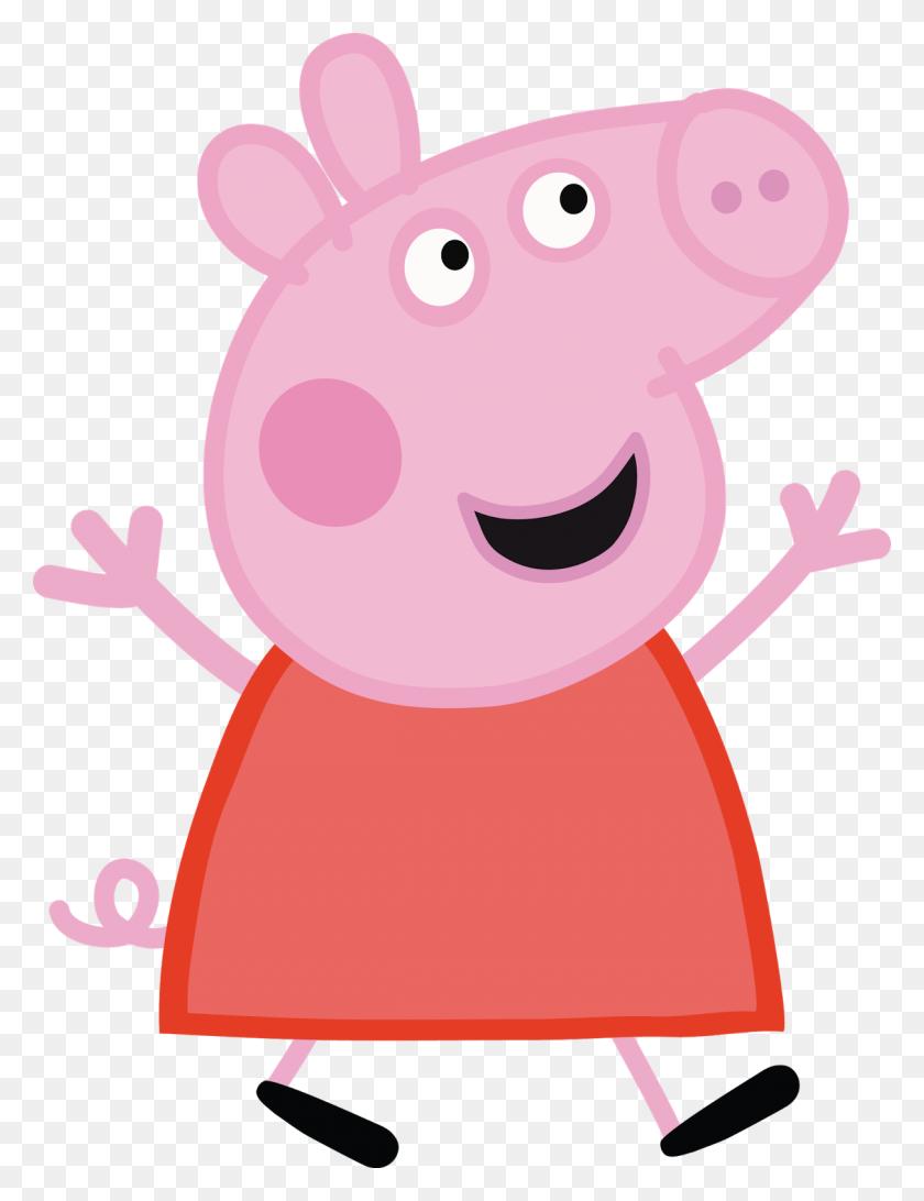 Peppa Pig Party In Peppa - Peppa Pig Clipart