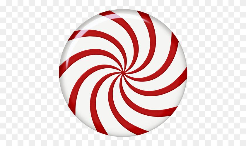 Peppermint Patty Christmas Circles Peppermint - Peppermint Clipart
