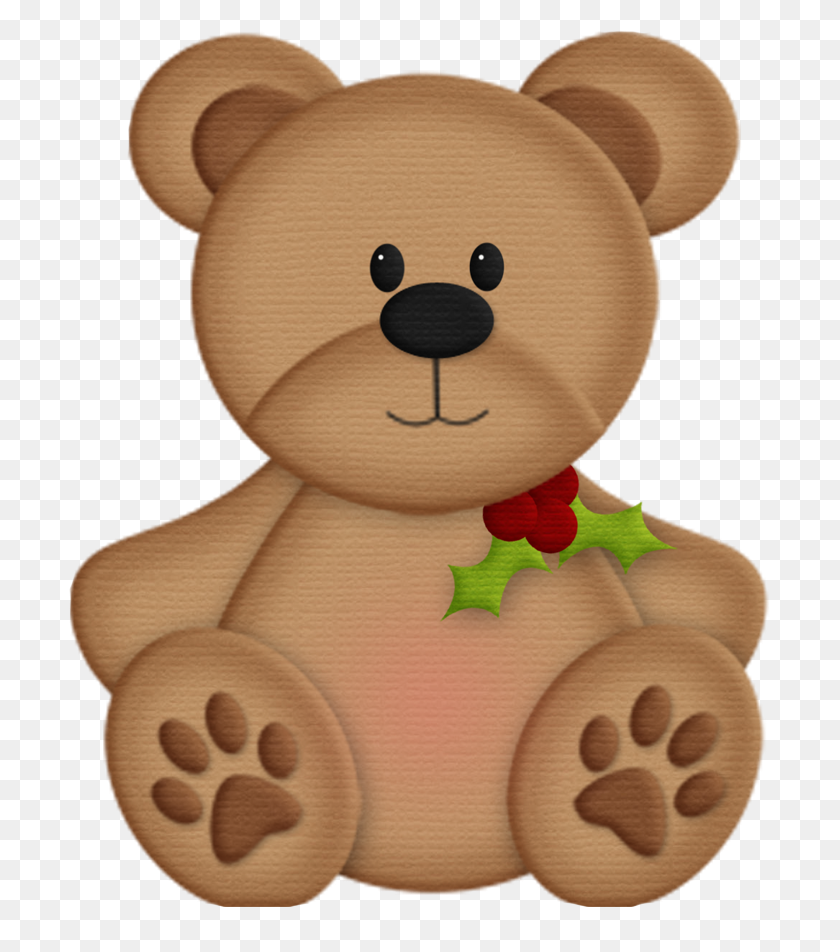 Peppermint Patty Decoupage Bear, Teddy Bear - Teddy Bear Clipart PNG