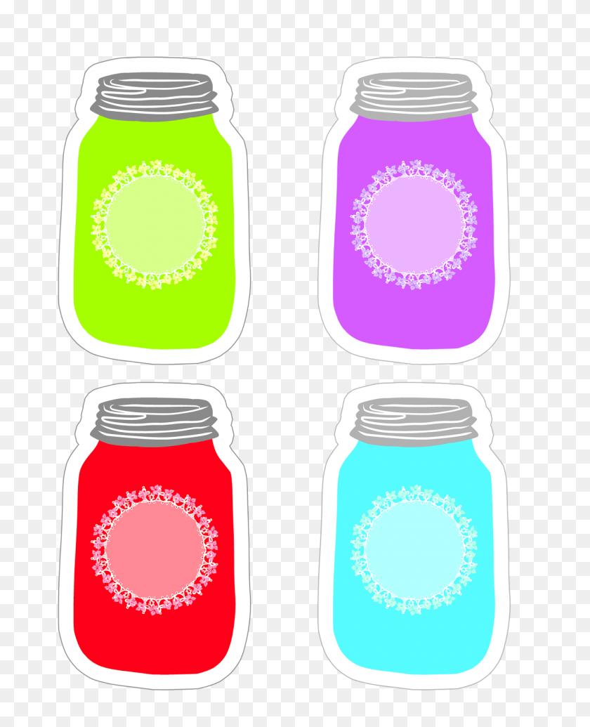 Perfume Clipart Canning Jar, Perfume Canning Jar Transparent Free - Mason Jar With Flowers Clip Art