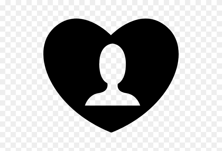 Person Head In A Heart - Person PNG Icon