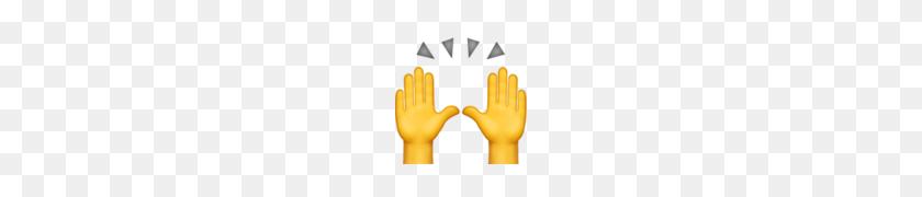 Person Raising Both Hands In Celebration Emoji - Raised Hands PNG