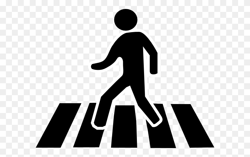 600x468 Person Walking Clipart - Man Silhouette Clipart