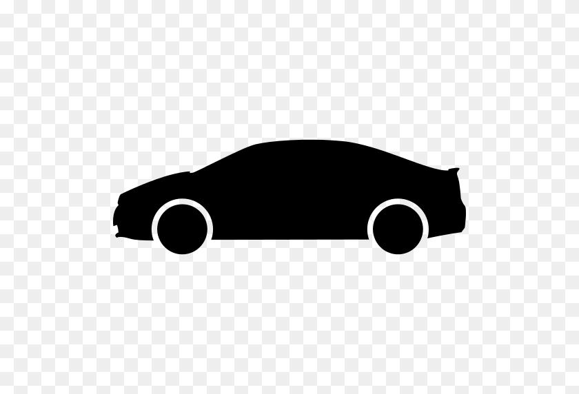 Personal Car Side View Silhouette Png Icon - Car Silhouette PNG