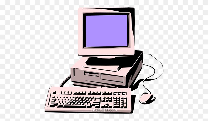 Personal Computer Royalty Free Vector Clip Art Illustration - Personal Computer Clipart