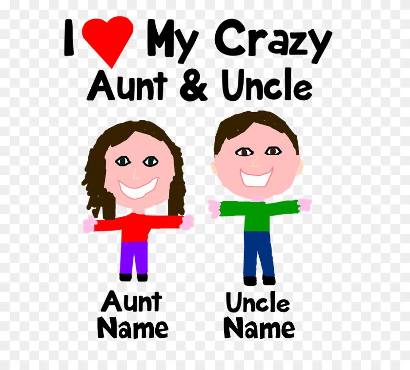 Personalize Crazy Aunt Uncle Bib - Aunt And Uncle Clipart