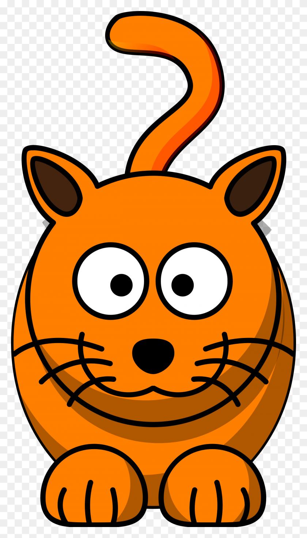 Pet Clipart Orange Cat - Cute Animal Clipart