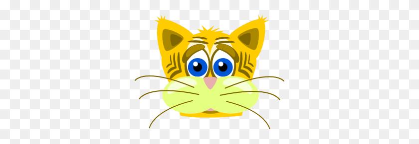 300x230 Peterm Sad Tiger Cat Clip Art Clipart Clip Art - Sad Cat Clipart