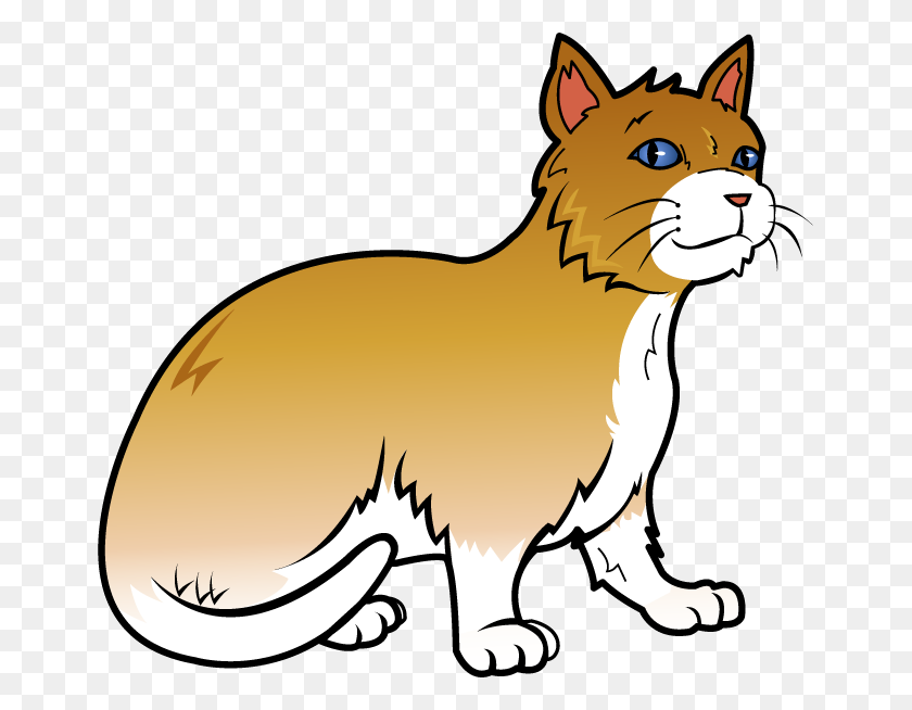 Pets Clipart Orange Cat - Running Cat Clipart