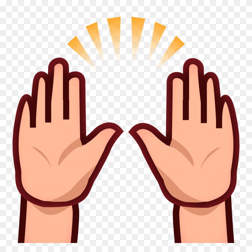 Phantom Open Emoji - Open Hands PNG