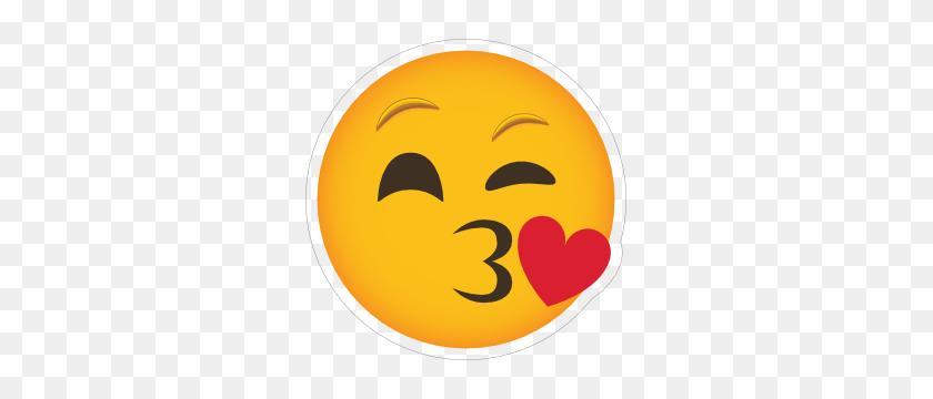 Phone Emoji Sticker Blowing A Kiss - Blowing A Kiss Clipart