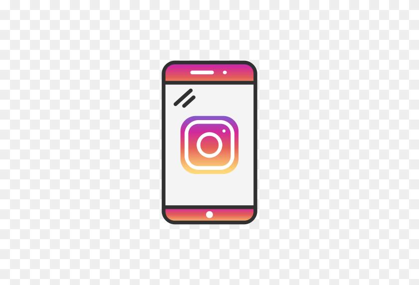 Phone, Logo, Instagram, Instagram Logo Icon - Logo Instagram PNG
