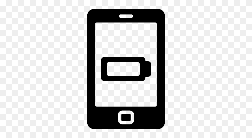 Phone With Low Battery Free Vectors, Logos, Icons And Photos - Low Battery PNG