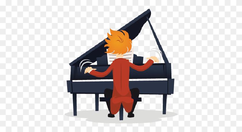 Pianist Virtuoso Clipart Pbs Learningmedia - Piano Player Clipart