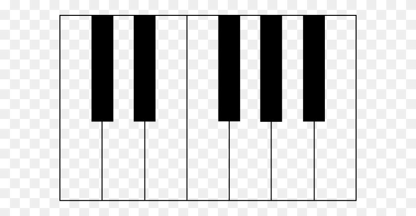 Piano Keys Clip Arts Download - Piano Black And White Clipart