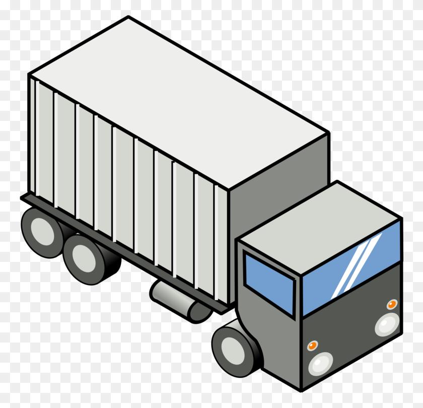 Pickup Truck Semi Trailer Truck Car Tow Truck - Semi Clipart