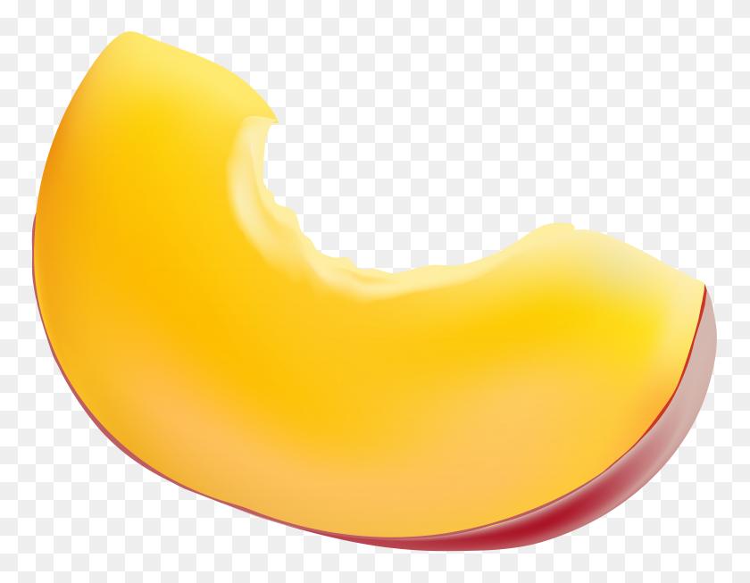 Piece Of Peach Transparent Clip Art - Peach Clipart