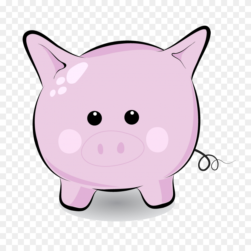 Pig Clip Art Cartoon - Cute Bulldog Clipart