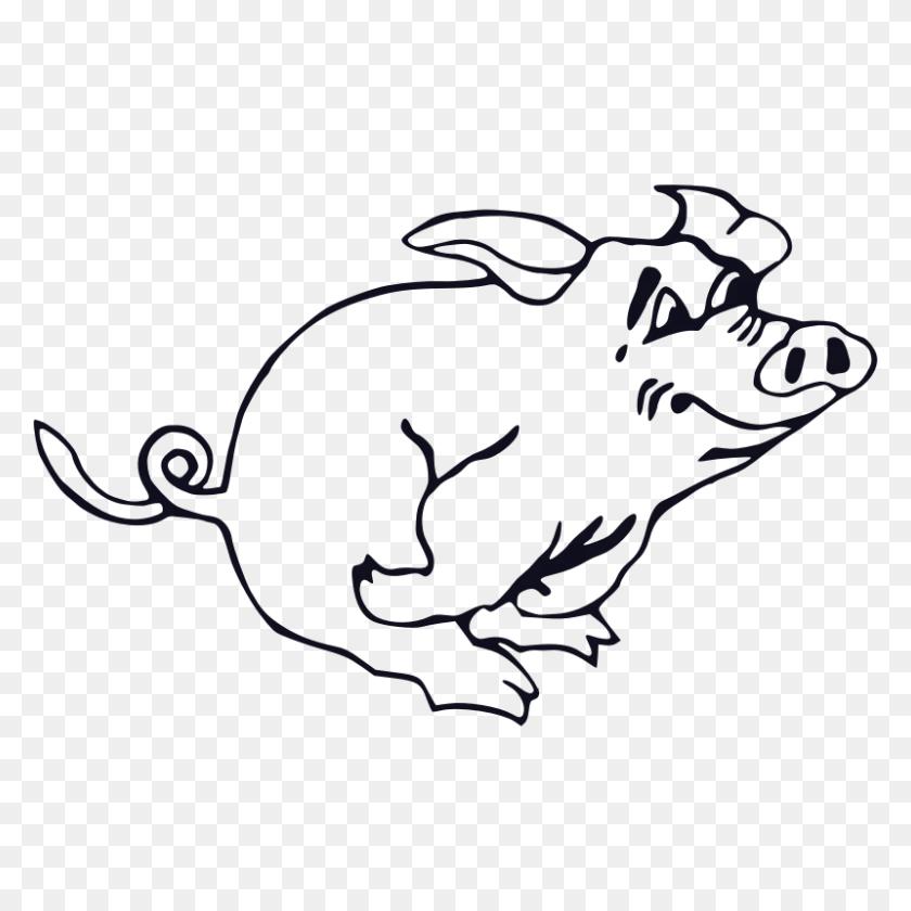 Pig Clipart Sketch - Pig Clipart