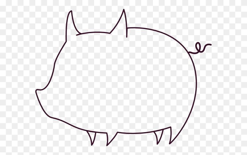 Pig Clipart Template - Cartoon Pig Clipart