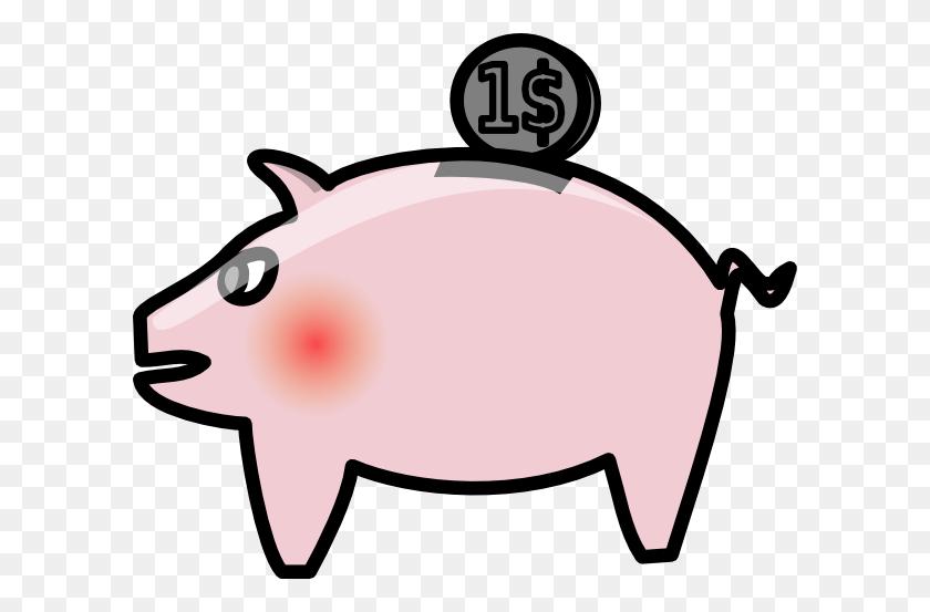 Piggybank Clip Art Free Vector - Piggy Bank Clipart Black And White