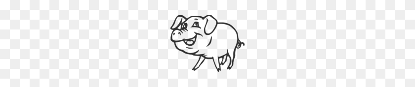 Free Pig Black And White Clip Art with No Background - ClipartKey