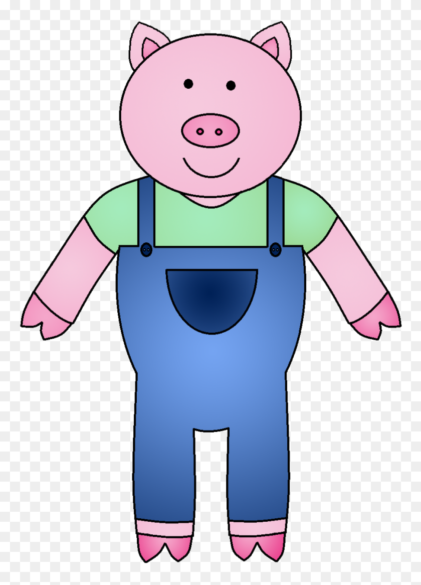 Pigs Clipart Black And White, The Three Little Pigs And The Big - Black And White Clipart Pig