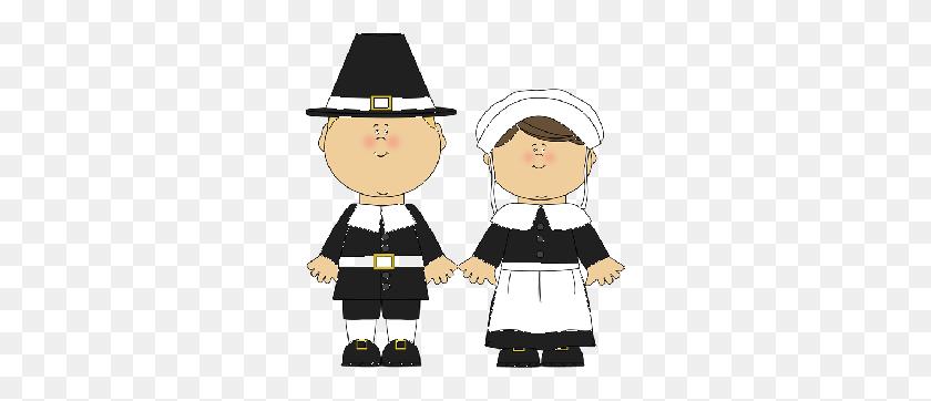Pilgrim Girl Cliparts - Pilgrim Clipart Black And White