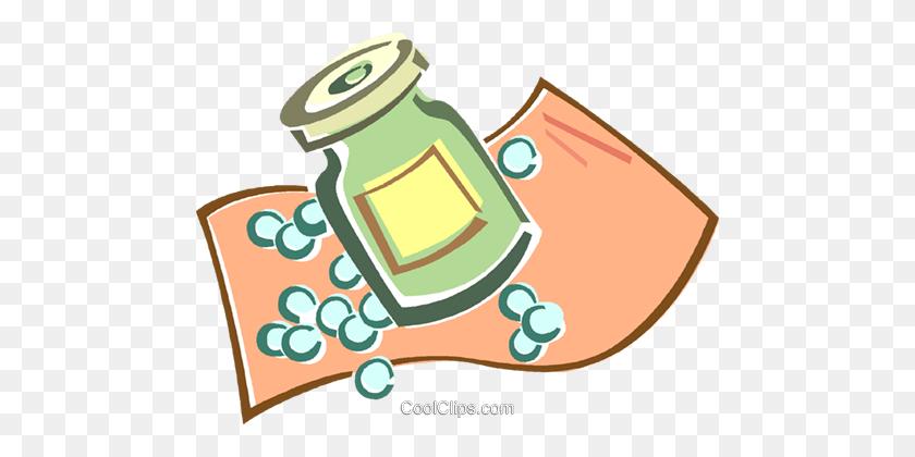 480x360 Pill Bottle Royalty Free Vector Clip Art Illustration - Rx Bottle Clipart