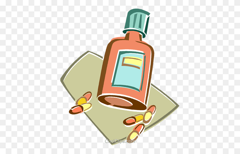 417x480 Pill Bottle Royalty Free Vector Clip Art Illustration - Rx Bottle Clipart