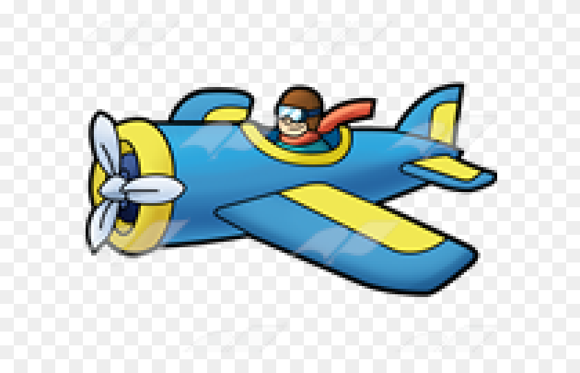 Pilot Clipart Propeller Plane - Propeller Plane Clipart