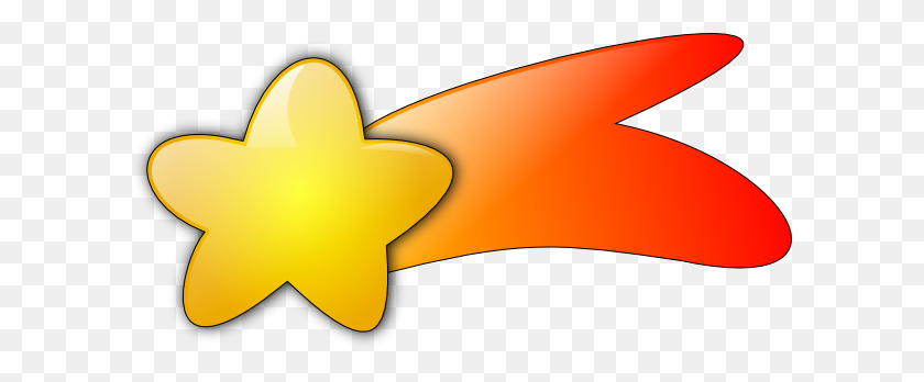 Pin Shooting Star Clip Art - Yellow Stars PNG