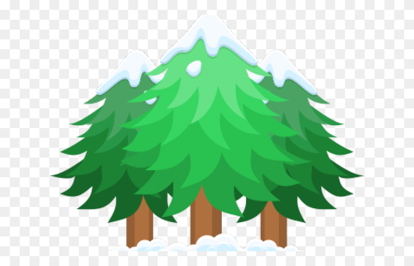 Pine Tree Clipart Snowy - Snowy Tree Clipart