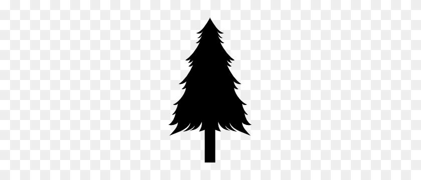 Pine Tree Stickers Pine Tree Decals - Pine Tree Silhouette PNG