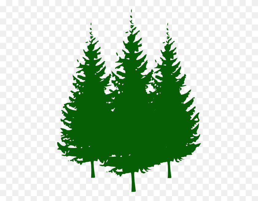 Pine Tree Tree Silhouettes Clip Art At Vec Christmas Tree