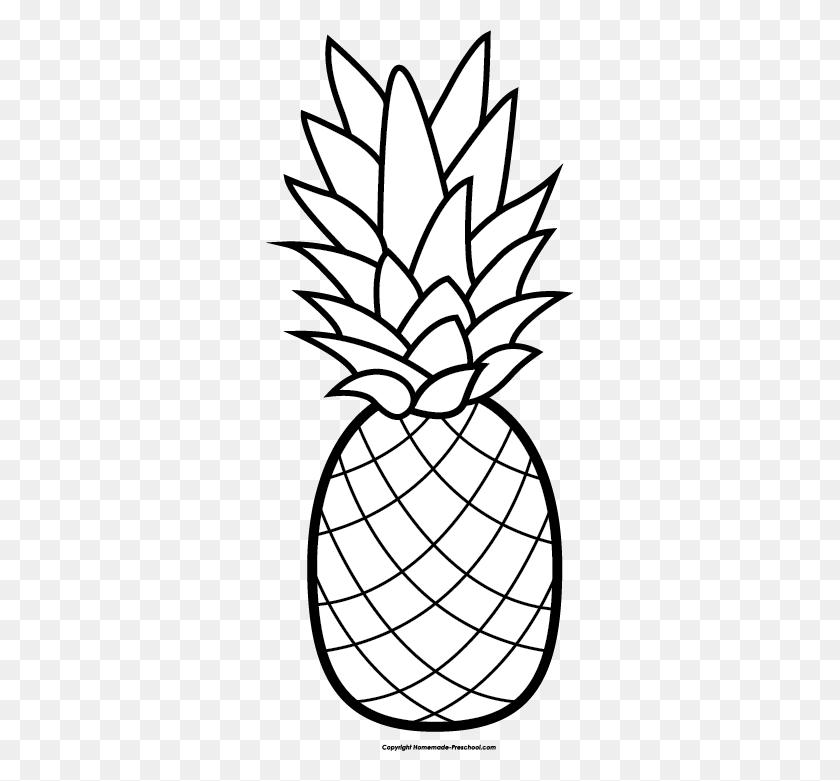 Pineapple Clipart Free Clip Art Hair Image - Crochet Clipart Black And White