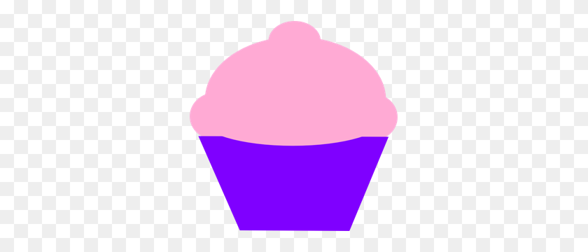 Pink And Curple Cupcake Png, Clip Art For Web - Cupcake Clipart PNG