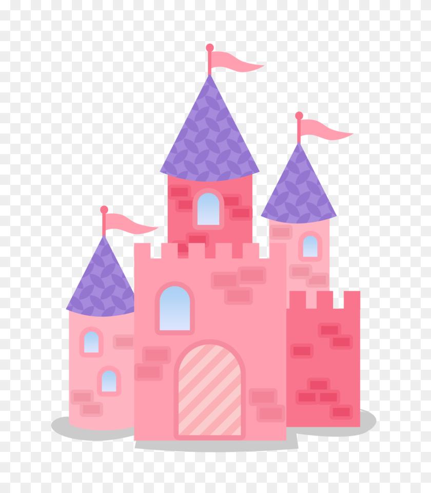 Pink And Purple Castle Dolls Castle, Castle - Castle Clipart