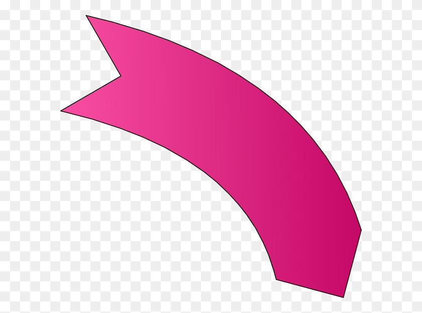 600x563 Pink Arrow Clipart - Arrow Outline Clipart