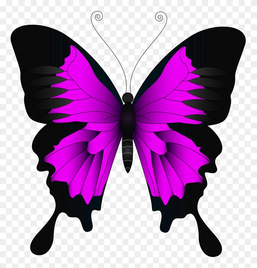 Pink Butterfly Clip Art Loadtve - Simple Butterfly Clipart
