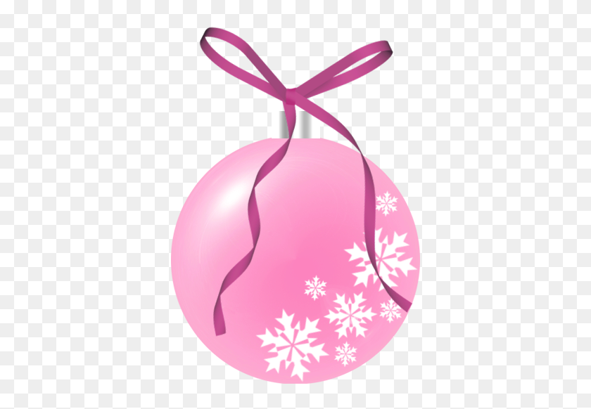 Pink Christmas Ornament Clip Art Christmas - Purple Ribbon Clipart