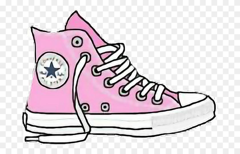 Pink Converse Sticker Converse Pinkconverse Shoes Pinks - Converse Clipart