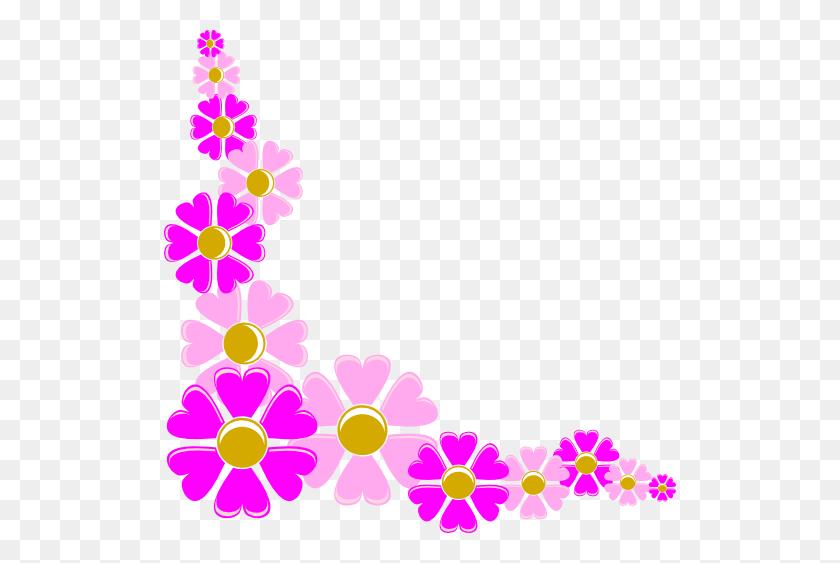 Pink Corner Border Png, Bright Pink Heart Border Clip Art - Corner Border PNG
