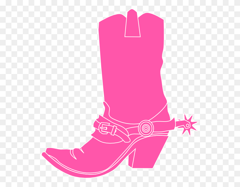 552x597 Pink Cowgirl Boot Clip Art - Free Cowboy Clipart