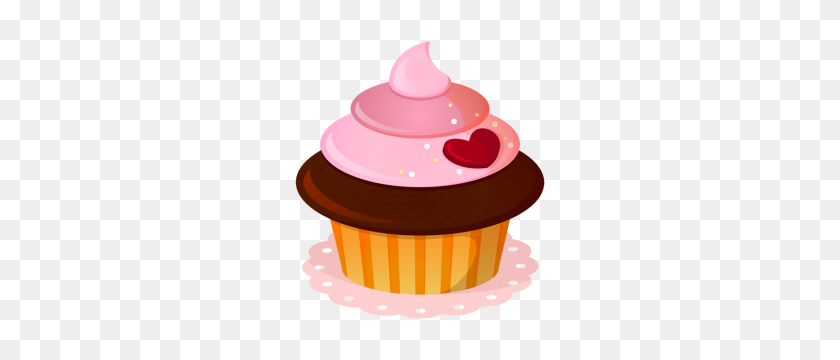Pink Cupcake Clipart Yummycupcakelovechocolates - Cupcake Clipart