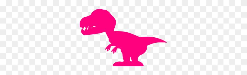 Pink Dinosaur Clip Art - Dinosaur Birthday Clipart